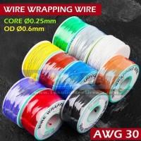 Per 1 Meter ~ Wire Wrapping Kawat Jumper Kabel PCB - Ungu