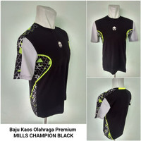 Kaos Futsal olahraga MILLS Champion 1007 Black