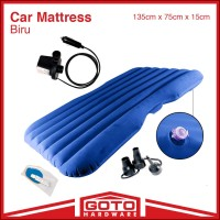 Kasur Mobil Biru Car Matress Blue Matras Angin Pompa Outdoor Indoor