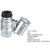 Mini 60X Two LED Light Magnifier