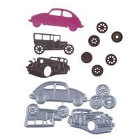 Cutting Dies - Vintage Transport Car (4pcs)