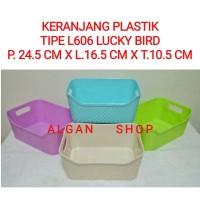 Keranjang plastik L-606/bakul/nampan/tray segi serbaguna