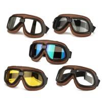 Kacamata Goggle Retro untuk Helm Motor / Skuter