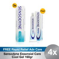 Buy 3 Sensodyne Essensial Care Cool Gel Jumbo FREE Rapid Relief