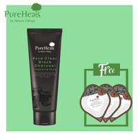Package 2 : Pureheals Black Charcoal Foam 1+ 6 pcs Volcanic Blister