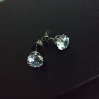 Anting Tindik Stainless Steel Diamond CZ 7MM