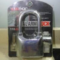 Gembok Kunci Alarm Anti Maling KINBAR Motor Pagar Alarm Lock 110dba