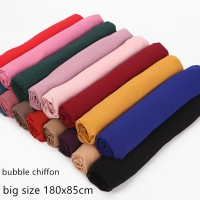 Style Baru Hijab / Jilbab / Kerudung Muslim Bahan Sifon Warna Polos