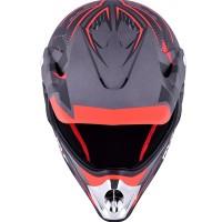 Helm KYT Cross Pro 9 avenger-gunmetal-red-fluo