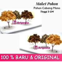 Maket Pohon Cabang Mono / Diorama Pohon / Miniatur Pohon Tinggi 3 cm