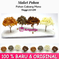 Maket Pohon Cabang Mono / Diorama Pohon / Miniatur Pohon Tinggi 2.5 cm
