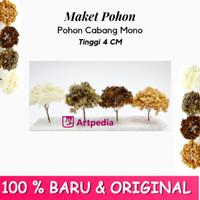 Maket Pohon Cabang Mono / Diorama Pohon / Miniatur Pohon Tinggi 4 cm