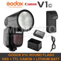 Godox V1C Canon TTL HSS Li-Ion Round Head Flash V-1C V1-C V1 Kit Batt