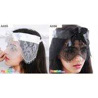 A035 A036 - Mask Topeng Penutup Mata Transparan Ikat Belakang