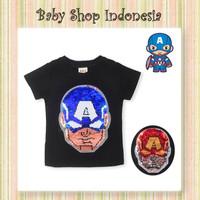 Kaos Anak Import Murah Baju Anak Cowok Murah Tshirt Anak Sequin Kapten