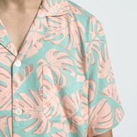 MAPPI MEN Rayon Short Sleeve Top in Monstera Print