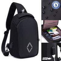 Tas Selempang Pria Slingbag Cross Body Ezzio USB Charging [TSJ502]