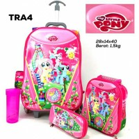 TAS TROLI ANAK 6 RODA 7D 4IN1 MY LITTLE PONY/KOPER TROLLEY TROLY 5D 6D