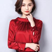 EUNIKA Okechuku Blouse Blus Gaya Korea Pakaian Kerja Fashion Wanita
