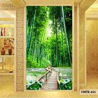 Wallpaper Custom Air Terjun Ruangan Potrait