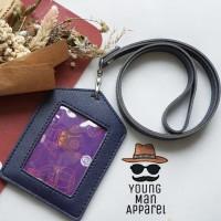 ID Card Holder / Name Tag Holder Kulit / Gantungan ID Card