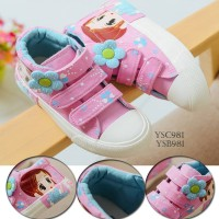 SPT25 - sepatu kets pink bunga walker shoes anak balita sneakers boots