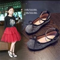 SPT24 - sepatu flat diamond ribbon walker shoes anak balita cewek