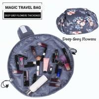 Tas Kosmetik Serut/Magic Travel Pouch/Lazy Makeup Bag
