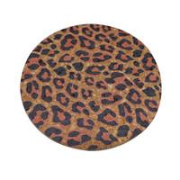 Leopard Alas Tatakan Panci Motif Leopard - Kuning