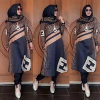 Baju Setelan Wanita Set Katun Kerja Blouse Cewek Kantor Formal Premium