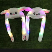 Topi kelinci gerak dengan LED / rabbit hat ear dance with LED