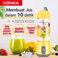 Juicer Portabel KONKA-Blender Mini-Pengisian Daya USB-Gelas 420ML