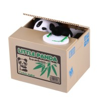 Lovely Kids Automated Panda Steal Coin Bank
