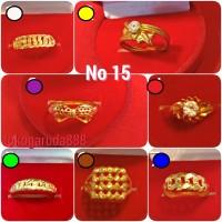 Cincin No 15 emas asli kadar 700 70% 22k 1 satu gram gold pita