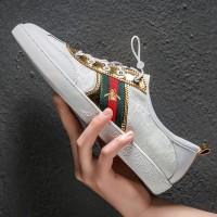 GUCCI Sepatu Sneakers Olahraga Casual Pria Warna Putih Untuk Musim