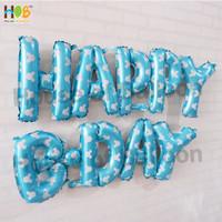 Balon Foil Huruf HAPPY BDAY Set Ulang Tahun Birthday Pink Blue Silver