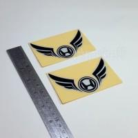 Sticker Cutting Logo Motor HONDA SAYAP Wings Hitam 10cm Stiker Emblem