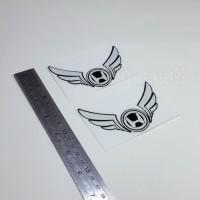 Sticker Cutting Logo Motor HONDA SAYAP Wings Putih 10cm Stiker Emblem