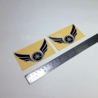 Sticker Cutting Logo Motor YAMAHA SAYAP Wings Hitam 10cm Stiker Emblem