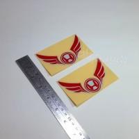 Sticker Cutting Logo Motor HONDA SAYAP Wings Merah 10cm Stiker Emblem