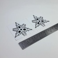 Sticker Cutting Motor YAMAHA Logo Garpu Tala RETRO Stiker 7cm Putih