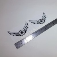 Sticker Cutting Logo Motor YAMAHA SAYAP Wings Putih 10cm Stiker Emblem