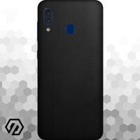 [EXACOAT] Galaxy A20 Skins 3M Skin / Garskin - Black Matrix