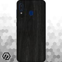 [EXACOAT] Galaxy A20 3M Skin / Garskin - Wood Ebony