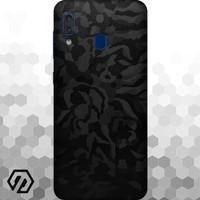[EXACOAT] Galaxy A20 Skins 3M Skin / Garskin - Black Camo