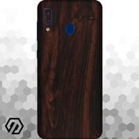 [EXACOAT] Galaxy A20 3M Skin / Garskin - Wood Mahogany