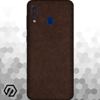 [EXACOAT] Galaxy A20 Skin / Garskin - Leather Brown