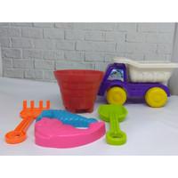 Truk Back Mini Cetakan Istana Pasir Pantai Sekop Mainan Anak