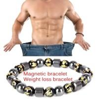 Gelang Magnet Terapi Kesehatan Stylish Batu Hematite..... Zena Shop