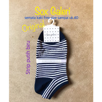 WN0048SG Strip Putih Sox Galeri Kaos Kaki gallery High Quality Katun